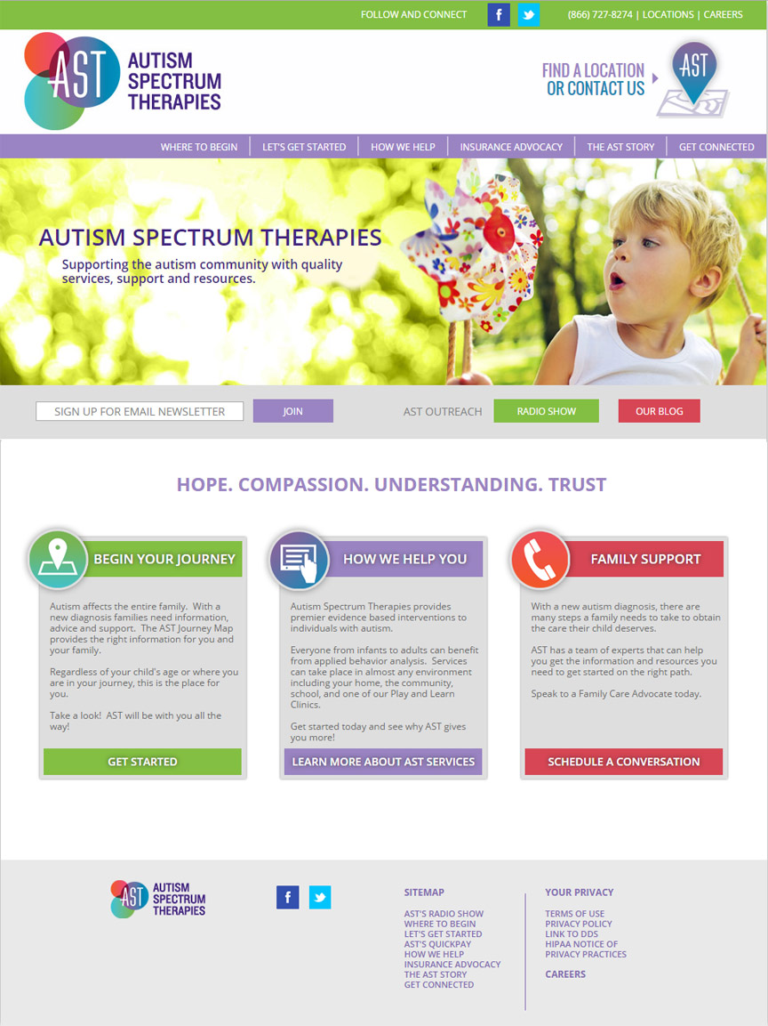 Autism Spectrum Therapies Homepage - Firestride Media