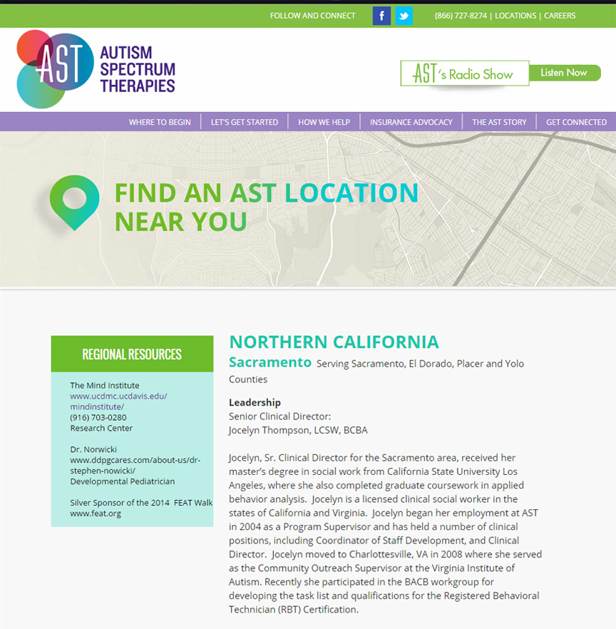 Autism Spectrum Therapies Locations - Firestride Media