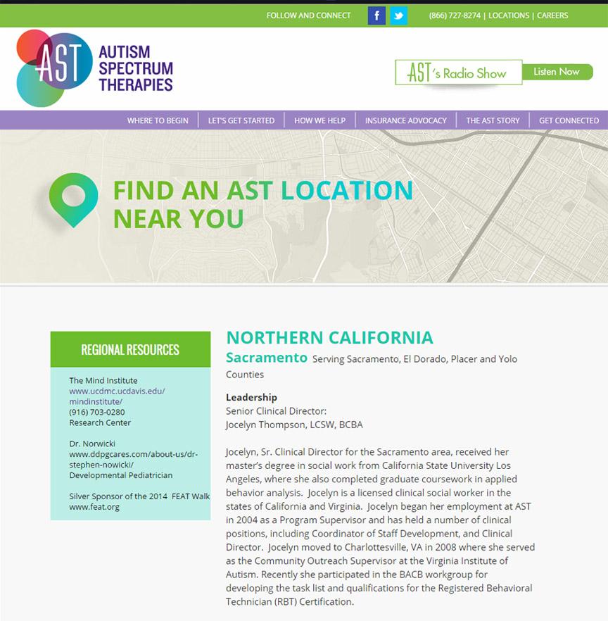 Autism Spectrum Therapies Locations - Firestride Media