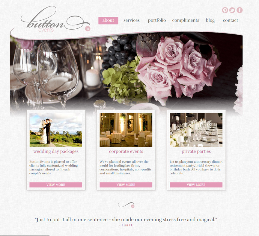 Button Events Homepage - Firestride Media Web Design